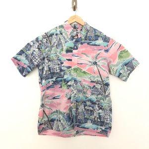 Reyn Spooner Reverse Print Vintage Hawaiian Shirt